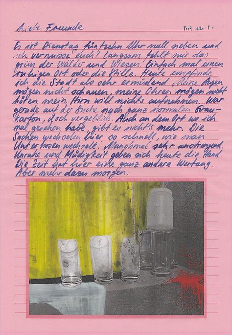 liebe freunde, dear friends, letters, egypt, mixed media, mia diener