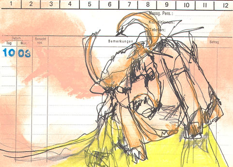 day drawings, mixed media, flashcards, loos and control, mia diener