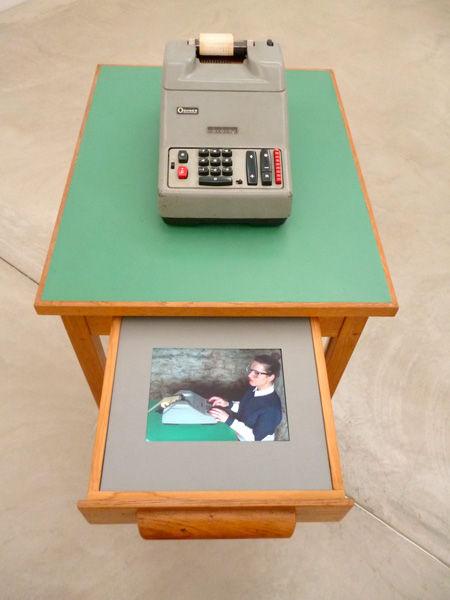 die abrechnung, the billing, installation, video, audio, calculating machine, mia diener