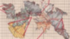 Road maps, collage, mixedmedia, M9, map, mia diener, stamp, art, switzerland, artist, contemporary art, world
