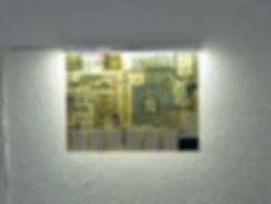 verkaufte transparenz, sold transparency, installation, map, luminous object, mia diener