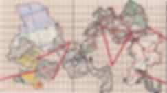 Road maps, collage, mixedmedia, S6, map, mia diener, stamp, art, switzerland, artist, contemporary art, world