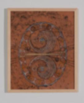 nexus, mixed media, monotype, drawing, painting, world, map, animals, intallation, mia diener