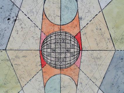 tim decoder, monotypie, acrylic, mixedmedia, collage, time, number, deconstruction, mia diener