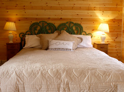 King size bed at the Lodge