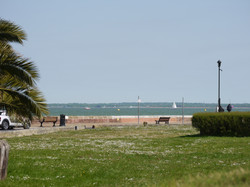 View of beach and harbour
