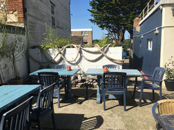 Seating area on sun terrace