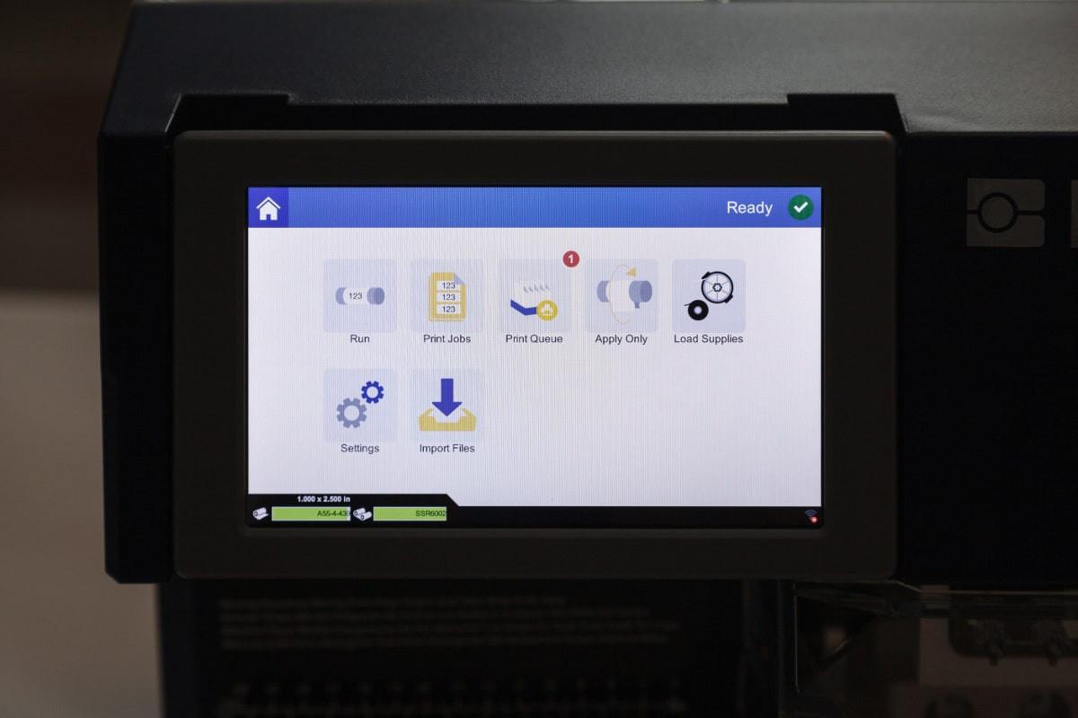 BradyPrinter A5500 zaslon