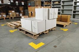 Določitev barve za skladiščenje proizvodnega materiala
