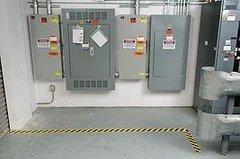 Določitev barve za območja okoli električnih omaric