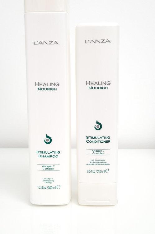 L'Anza Healing Nourish Stimulating Shampoo & Conditioner