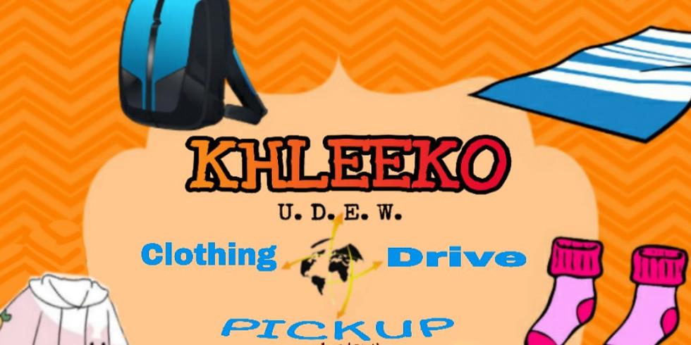KHLEEKO's CLOTHING DRIVE PICKUP