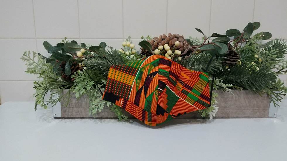 Slim Fit Kente COVID-19 Mask