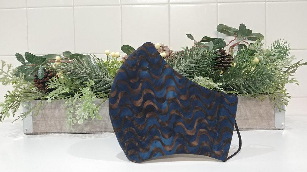 Slim fit Blue Velvet COVID-19 Mask
