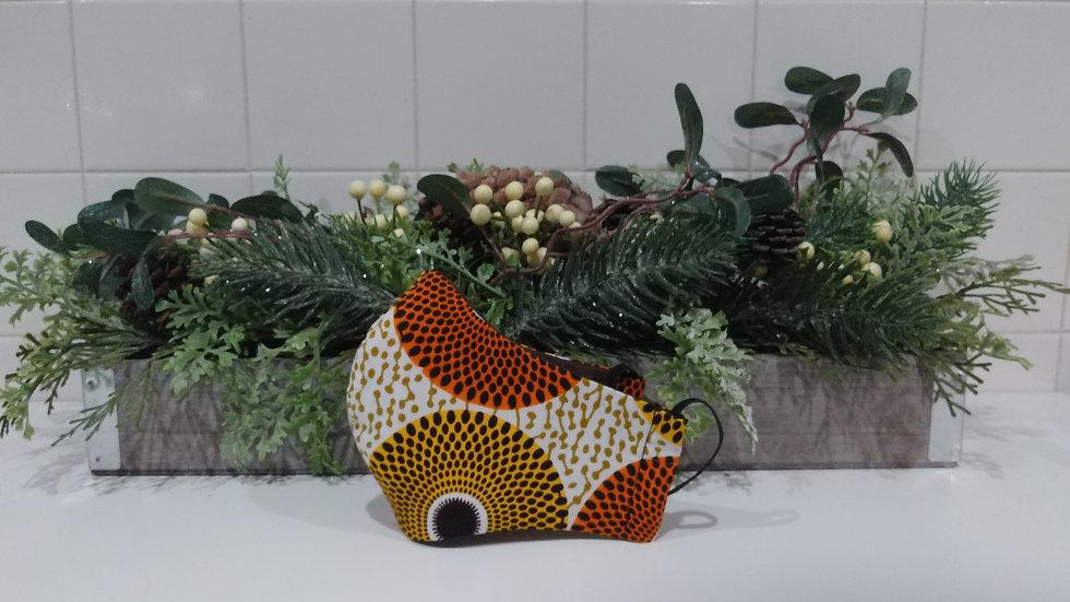 Yellow and Orange 'Fish head' COVID-19 Mask