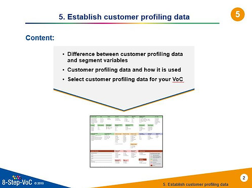 Step 5 Establish customer profiling data