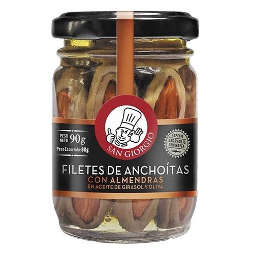 San Giorgio - Filetes de Anchoa con Almendras