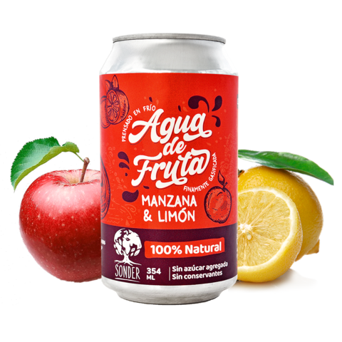 Sonder - Agua de Frutas sabor Manzana & Limón