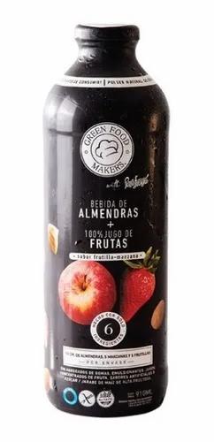 GreenFoodMarket - Bebida de Almendra, Frutilla y Manzana