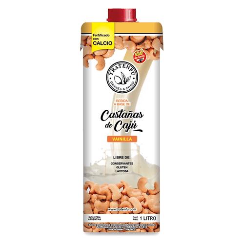 Tratenfu - Leche Vegetal - Castañas de Cajú sabor Vainilla