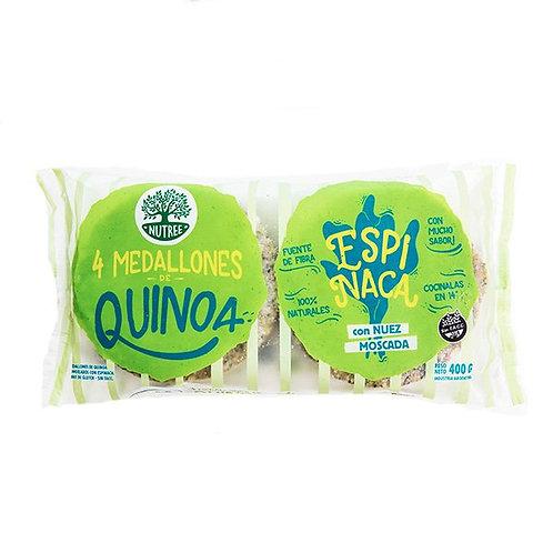 Nutree - Hamburguesa a Base de Quinoa - Espinaca