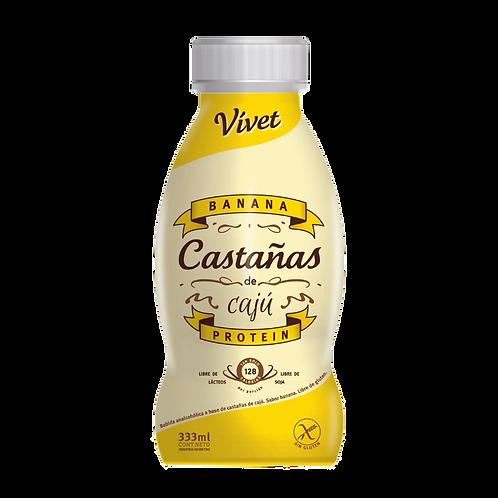 Vivet - Leche de Castañas de Cajú - Sabor Banana
