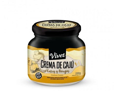 Vivet - Crema de Cajú - Curry y Hongos