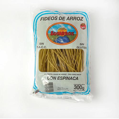 Soy Arroz - Fideos de Arroz - Espinaca