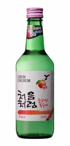 Soju - Sabor Durazno - Bebida Alcohólica Coreana
