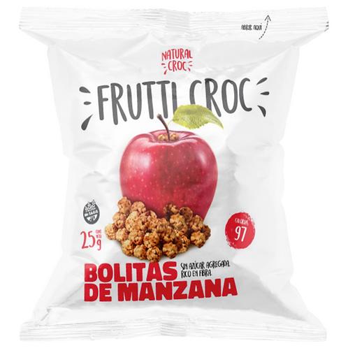 Frutti Croc - Bolitas de Manzana Deshidratada