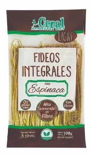 Ceral - Tallarines Integrales - Espinaca