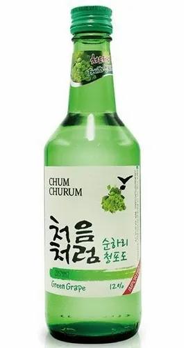 Soju - Sabor Uva - Bebida Alcohólica Coreana