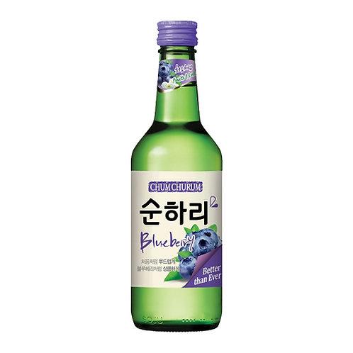 Soju - Sabor Mora Azul - Bebida Alcohólica Coreana
