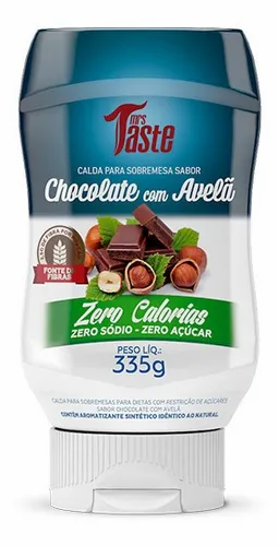 Mrs. Taste - Salsa de Chocolate con Avellanas - Zero Calorías