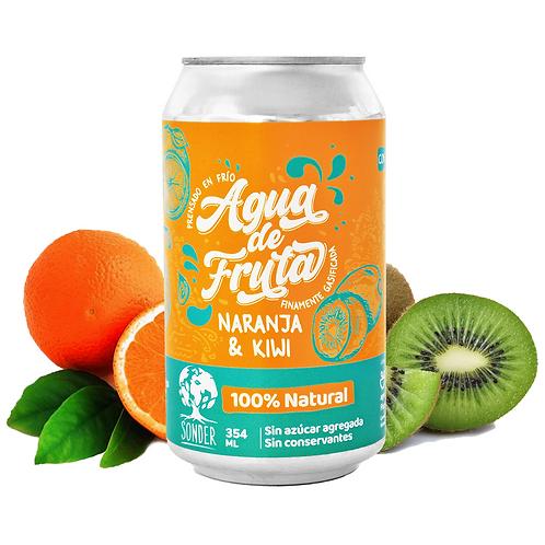 Sonder - Agua de Frutas sabor Naranja & Kiwi