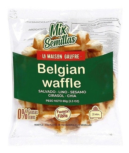 La Maison Gau - Waffle con Mix de Semillas