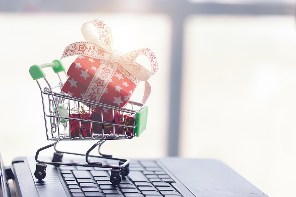 Online Holiday Shopping from Home