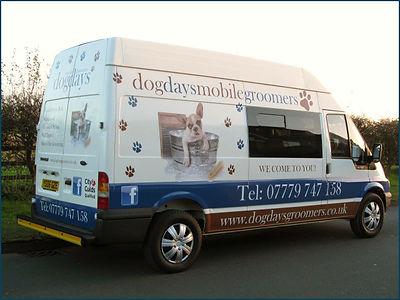 Dog Days Mobile Groomers Van Photo
