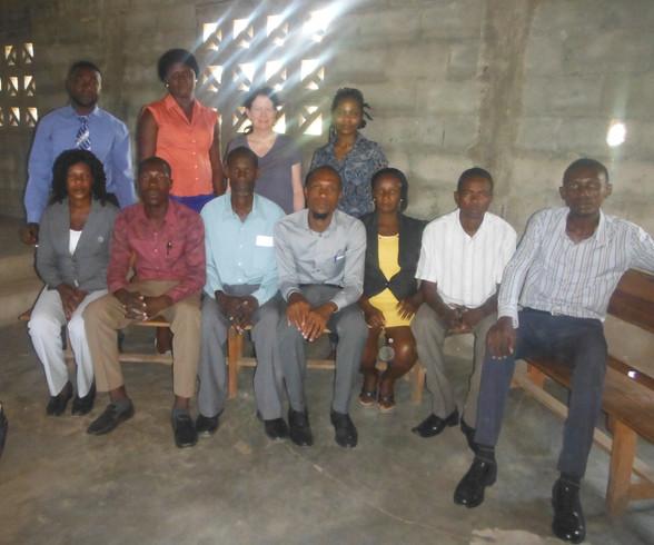 School board and visitors