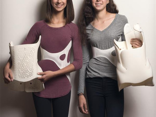 Stylish 3D printed back brace brings fashionable look to female scoliosis patients