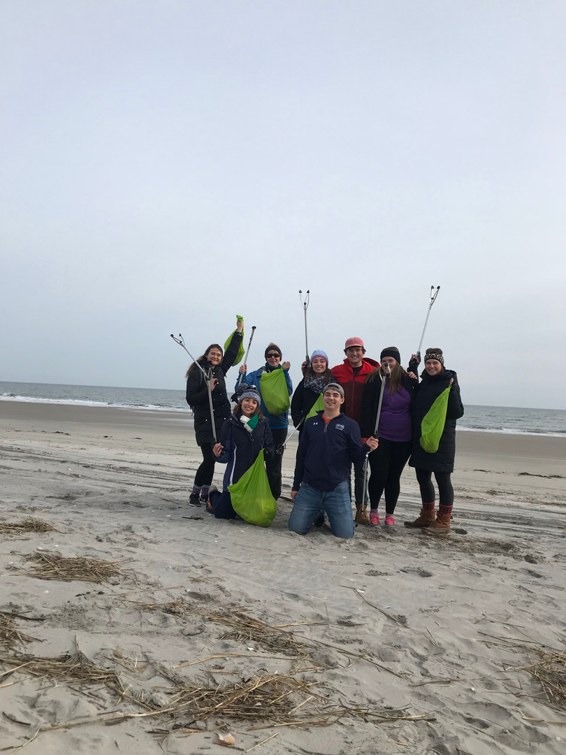 Environmental Mission Trip - Cleaning up beach trash at the Jersey Shore