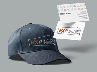 MX Plant hire corporate branding