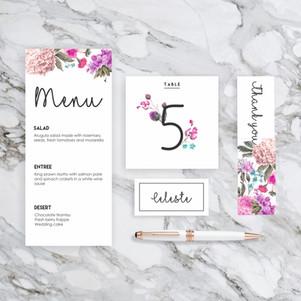 Spring wedding stationary