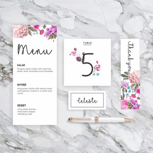 Spring wedding stationary