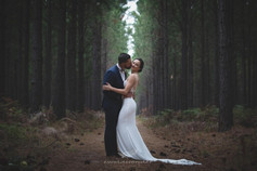 Bride and Groom in the forest