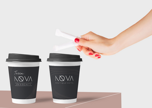 Nova Hotel coffee cups