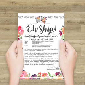 Boatwright wedding stationary