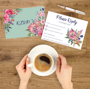Protea wedding rsvp