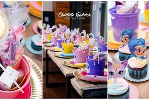 Shimmer & Shine birthday party stationary