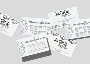 Jacks Bagels loyalty card